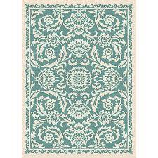 tayse garden city basile fl pattern area rug aqua