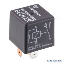 beuler bu5084w waterproof 12 vdc automotive 5 pin relay spdt 40 60a Time Delay Relay Beuler at Beuler Relay Wiring Diagram