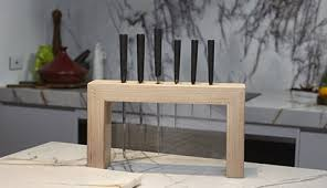 Finished knife block with knives