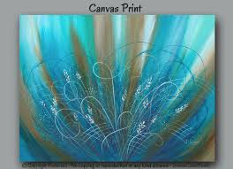 large wall art turquoise teal wall