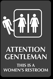 women s bathroom sign printable. Attention Gentleman This Is A Womens Restroom Engraved Sign Sku In Women\u0027s Bathroom Women S Printable