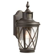 allen roth castine 13 78 in h rubbed bronze motion activated medium base e