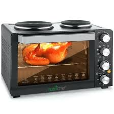 multi function kitchen oven electric toaster rotisserie cooker with dual food warming hot plates countertop best dua