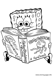 Small Picture Spongebob Reading Book Coloring Page8e21 Coloring Pages Printable