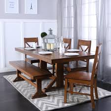 walker edison furniture pany millwright 6 piece antique brown dining set