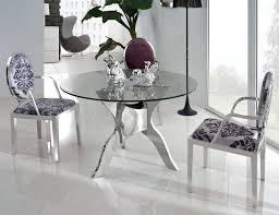chic glass dining room table round glass top dining room table home design and home gallery