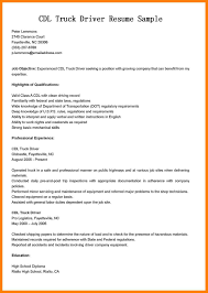 Objective For Truck Driver Resume 100 cdl driver resume sample cna resumed 60