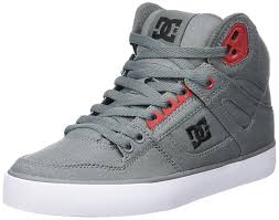 dc shoes high tops red and black. dc shoes spartan high wc men\u0027s hi-top sneakers gris grey/black/red tops red and black r