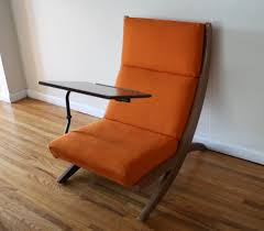 chair with desk. mcm orange chair with detachable writing desk 2 l