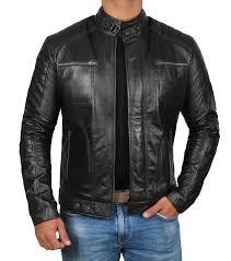 oregon real leather biker jacket
