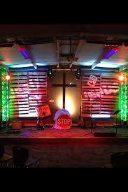 church lighting design ideas. Multi Color Church Stage Lighting Design With White Wooden Partitions And Two Small Guitars Facing Chairs Ideas