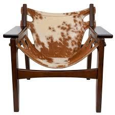 sergio rodrigues kilin chair in cowhide