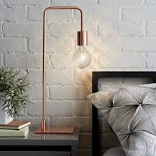 view in gallery fabulous copper table from cb2 is a hot seasonal decor piece