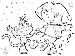Small Picture Coloring Pages Dora The Explorer FunyColoring