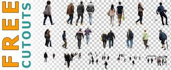 Free Set of People Cutouts PNG and PSD