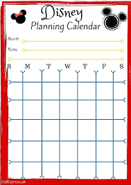 Disney World Vacation Planner Template Printable Calendar Skincense Co