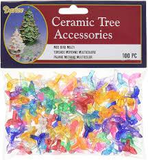 Ceramic Christmas Tree With Bird Lights Amazon Com Darice Holiday Ceramic Tree Accessories Medium