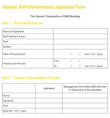 evaluation form templates job performance evaluation form templates review sample post