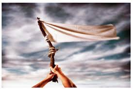 Image result for waiving the white flag