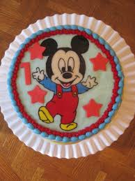 Baby Mickey Mouse Edible Cake Decorations Baby Mickey Mouse Cake Cakecentralcom