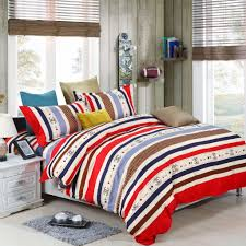 colourful stripes pattern duvet covers bedding set single double king b07