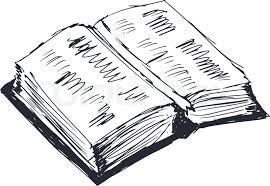 hand drawn cartoon sketch ilration of open book vector