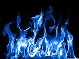 Iphone Blue Fire Wallpaper