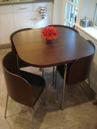 Small Round Dining Table Black Gloss Acrylic Gray Padded Side - Dining room table solid wood