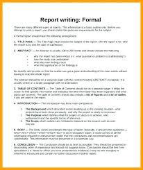 Sample Formal Report Formal Business Report Template Formal Business Report