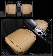 car front back seat covers artifical pu leather patchwork design universal fit suv sedans chair pad cushion antiskid