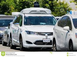 Waymo Stock Chart Waymo Self Driving Car Cruising On A Street Silicon Valley