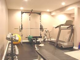 Interior:Impressive Basement Gym Decor Idea Cool Basement Gym Room Design  With Black Floor Tile