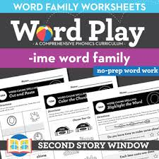 Each printable book comes with a few extra freebies from learn to read as well! Ime Long Vowel Word Family Worksheets No Prep Long Vowel I Chunk Spelling Second Story Window