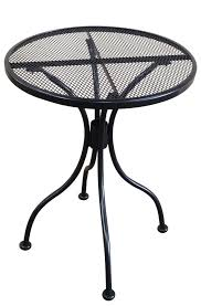 details about 24 inch round black mesh wrought iron metal table outdoor restaurant cafe patio