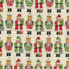 Holly Jolly Christmas Nutcracker cotton quilt fabric by the yard ... & Fabrics are shown in 8″ scale Adamdwight.com