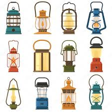 Camping Lantern Or Gas Lamp Stock Vector Krugli86 At Gmailcom