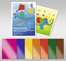 Ursus Fensterfolie Farbig Transparent 7 Blatt 23x33cm Sortiert Ursus