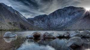 Wallpaper Convict Lake, Mount Morriso ...