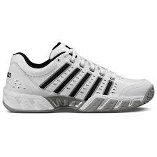 K Swiss Mens Bigshot Light Ltr Omni Tennis Shoes White Black Silver