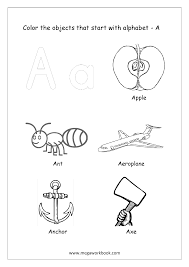 Free printable coloring pages for uppercase and lowercase letters for kids. Alphabet Picture Coloring Pages Things That Start With Each Alphabet Free Printable Kindergarten Worksheets Megaworkbook