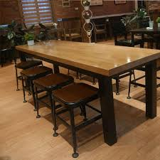 wrought iron and wood furniture. Buy American Starbucks Table Wrought Iron Wood Bar Stool High Chair Dining Chairs Office Conference In And Furniture R