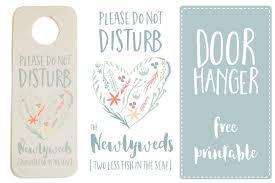 Wedding Door Hanger Template Do Not Disturb The Newlyweds' Door Hanger Printable FREE 1