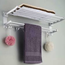 towel rack. Wonderful Rack Highly Durable Space Aluminum Bath Towel Rack European  Single Layer On Rack