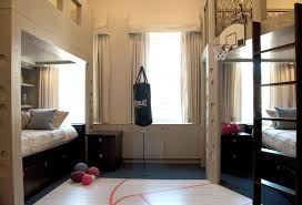 including a rock climbing wall installation a realistic mini basketball court and full sized punching bag to work out those adolescent strops