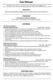 Media Resume Resume Templates