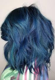 65 Iridescent Blue Hair Color Shades Blue Hair Dye Tips