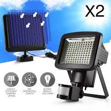 120 led solar sensor outdoor light x2