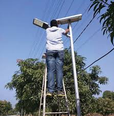 it is fixed inside the led far up the pole making it safe from potential thefts