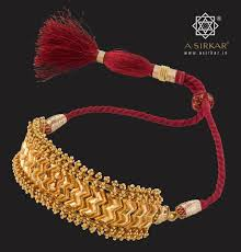 Gold Cheek Necklace Design A Choker Which Could Double Up As A Baju Bandh Gold