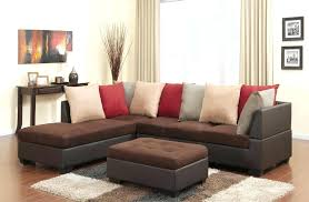 microfiber leather couch traditional chocolate microfiber and leather sectional with ottoman microfiber sofa leather look
